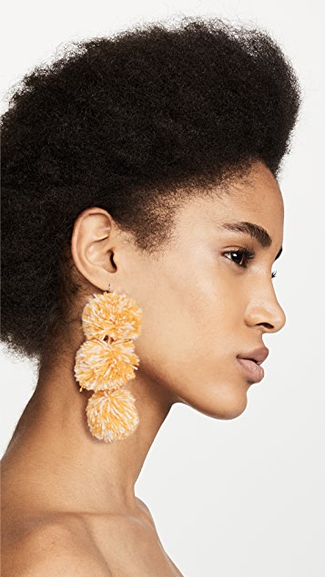 MISA Pom Pom Drop Earrings