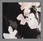 черный/цветочный рисунок