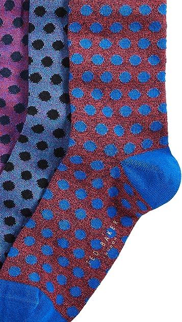 Ted Baker Three Pack John Dot Socks