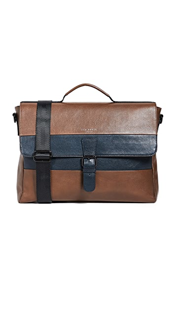 Ted Baker Striped Leather Briefcase
