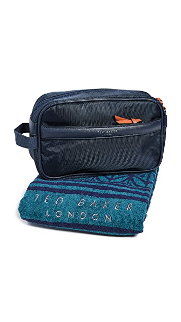 Ted Baker Wash Bag and Towel Gift Set