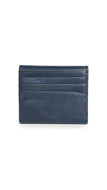 Ted Baker Farcard Waxed Suede Card Holder