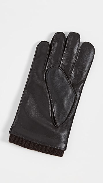 Ted Baker Blokey Leather Stab Stitched Gloves