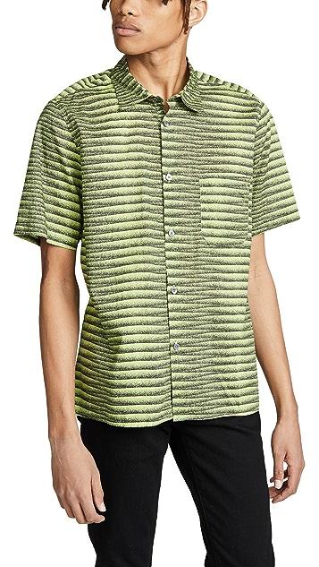 Tres Bien Tourist Print Poplin Shirt