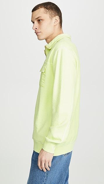 Tres Bien Reversed Overdye Half Zip Sweatshirt