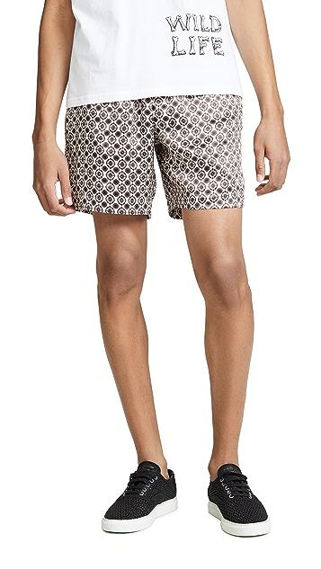 Tres Bien Paisley Satin Sport Shorts