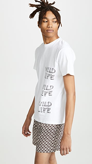 Tres Bien Wildlife Cotton Souvenir Tee