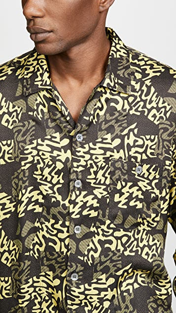 Tres Bien Alp Print Short Tunic Shirt