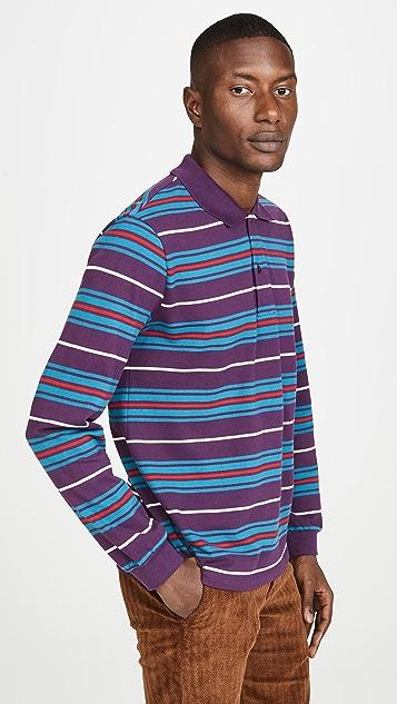 Tres Bien Long Sleeve Striped Polo