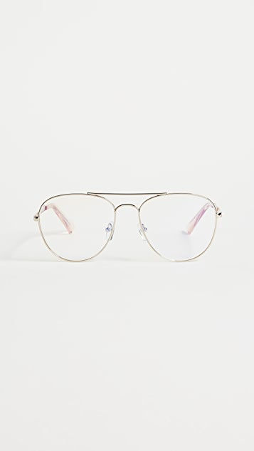 The Book Club Hard Crimes Strain Free Glasses - Rose Gold/Clear