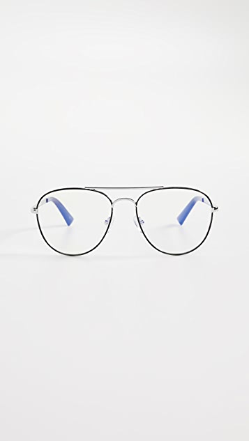 The Book Club Blue Light Hard Crimes Glasses