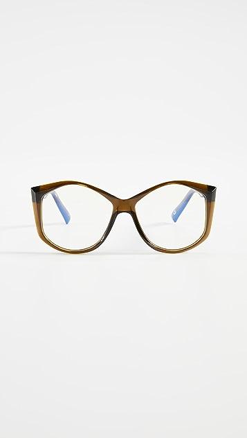 The Book Club Blue Light Donkey Goaty Glasses