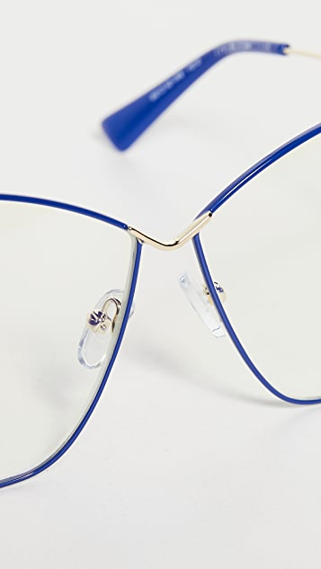 The Book Club Wry Centrality Blue Light Glasses