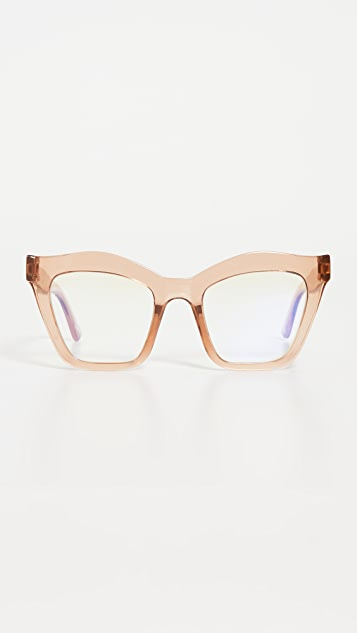 The Book Club Rave Crew Swirled Bluelight Glasses