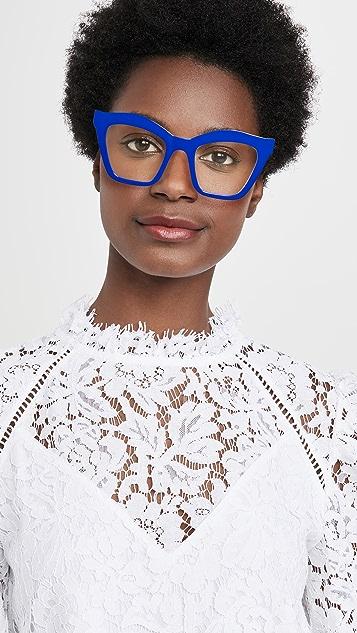 The Book Club Rave Crew Swirled Blue Light Glasses