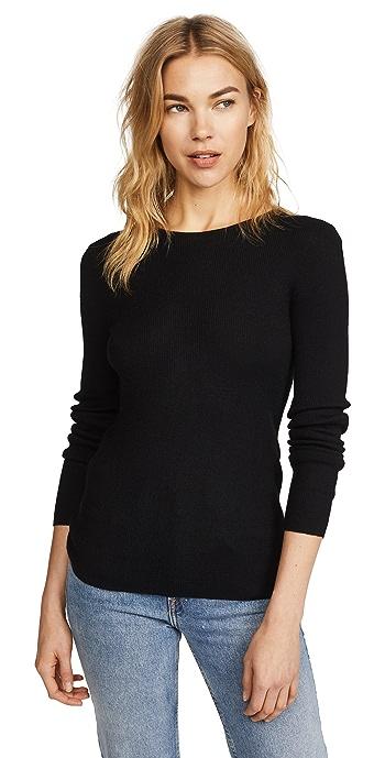 TSE Cashmere Crew Neck Cashmere Sweater - Black