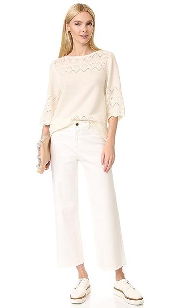 TSE Cashmere Claudia Schiffer x TSE Lace Sweater