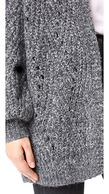 TSE Cashmere Chevron Stitch Cardigan