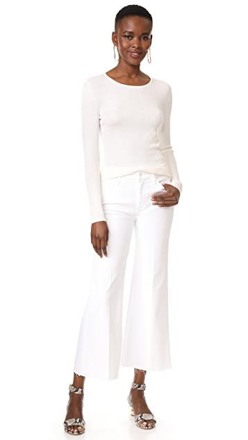 TSE Cashmere Long Sleeve Scoop Neck Top with Back Keyhole