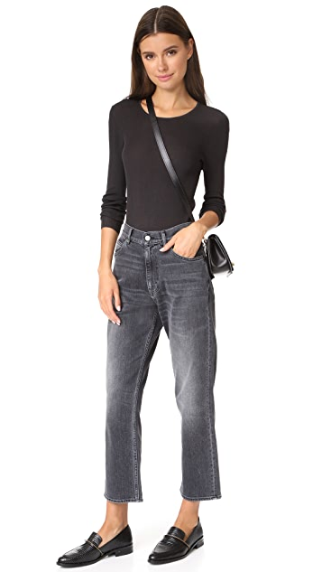 TSE Cashmere Long Sleeve Scoop Neck with Back Keyhole
