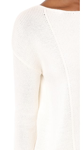 TSE Cashmere LS Intarsia Blocked Sweater
