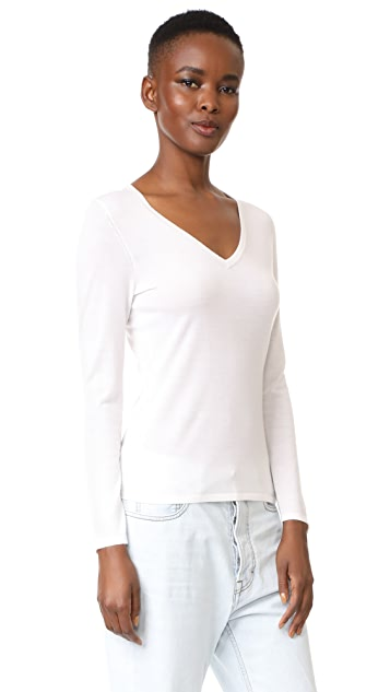 TSE Cashmere Long Sleeve V Neck Sweater