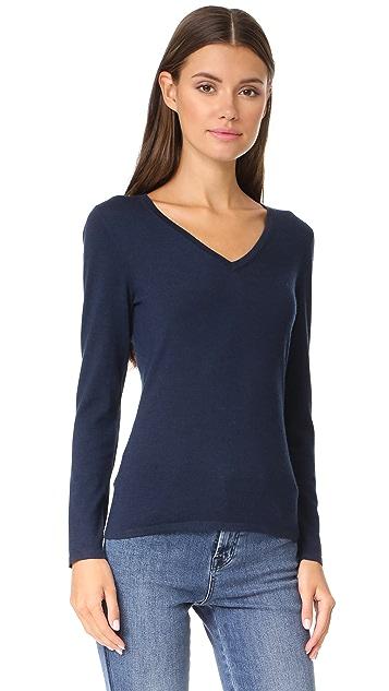 TSE Cashmere Long Sleeve V Neck Sweater