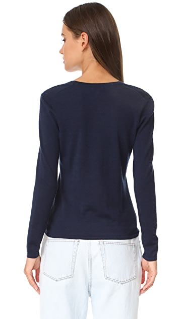 TSE Cashmere Long Sleeve V Neck Cardigan