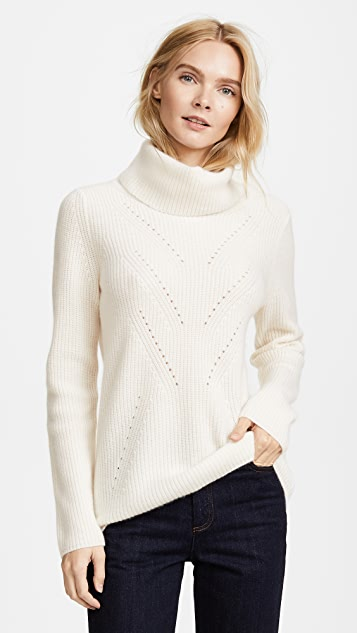 TSE Cashmere Long Sleeve Roll Neck Sweater