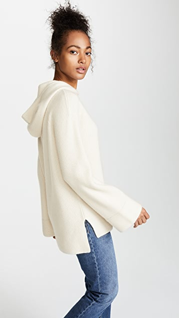 TSE Cashmere Bell Sleeve Cashmere Hoodie