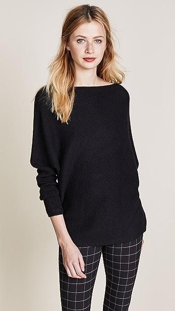 TSE Cashmere Asymmetrical Drape Sweater