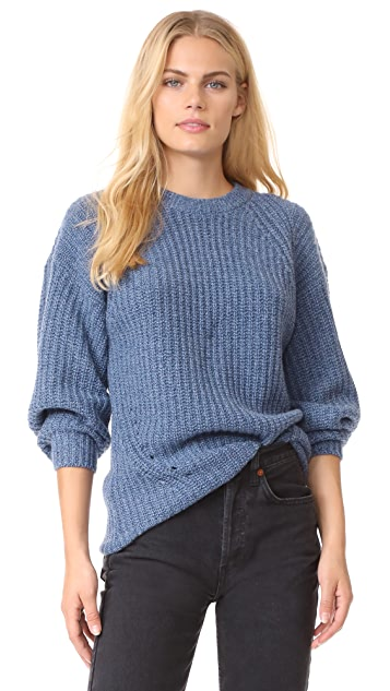 TSE Cashmere x Claudia Schiffer Long Sleeve Pullover