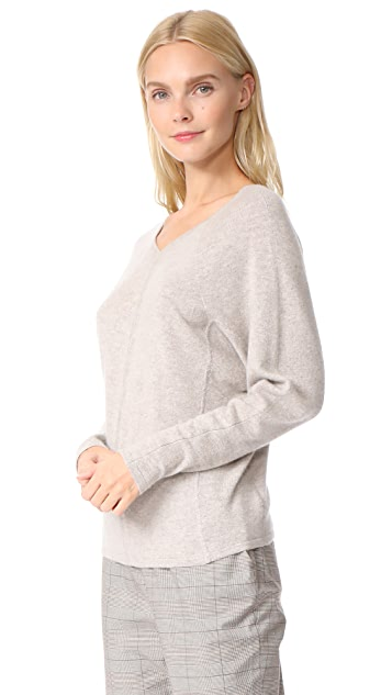 TSE Cashmere Double V Neck Sweater