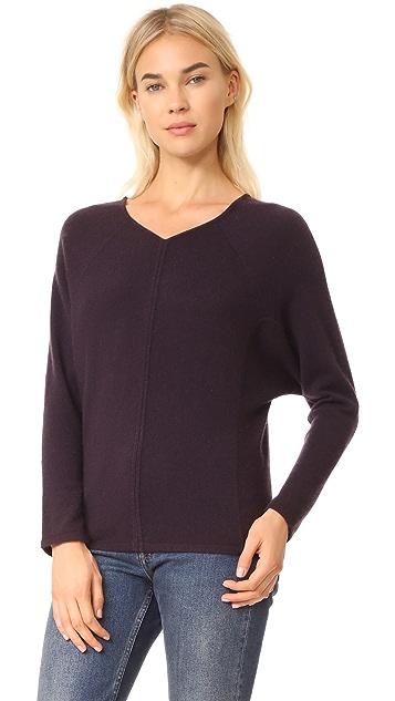 TSE Cashmere Double V Neck Sweater