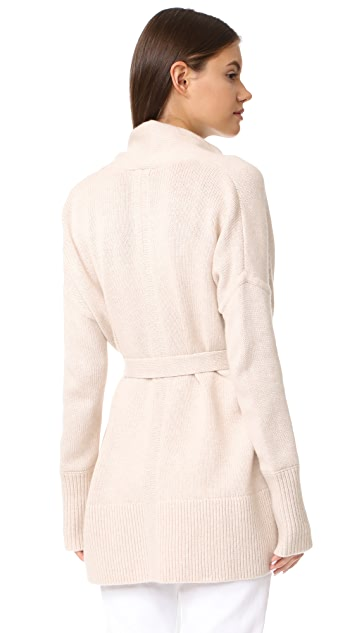 TSE Cashmere Cocoon Cardigan with Belt