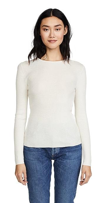 TSE Cashmere Crew Neck Sweater - White
