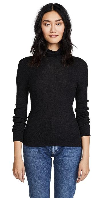 TSE Cashmere Turtleneck Sweater - Charcoal Melange