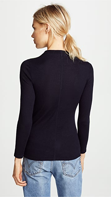 TSE Cashmere Superfine Cashmere Sweater with Chainette Beads