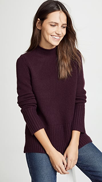 TSE Cashmere Sweater with Curved Hem