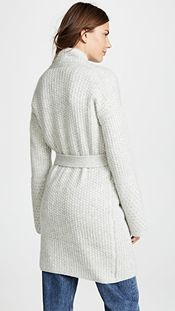 TSE Cashmere Cashmere Sweater Coat with Belt