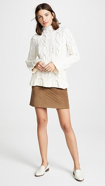 TSE Cashmere Handknit Cashmere Cable Sweater