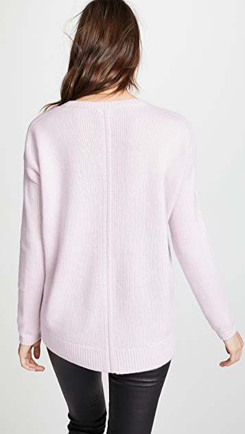 TSE Cashmere Cashmere Cocoon Back V Neck Sweater
