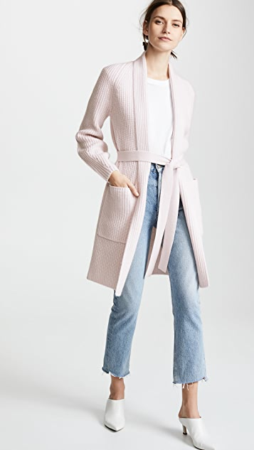 TSE Cashmere Cashmere Cardigan Coat with Belt