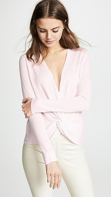 TSE Cashmere Twist Front Sweater