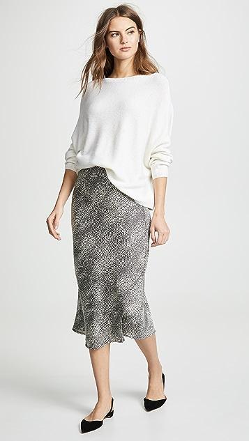 TSE Cashmere Asymmetrical Drape Cashmere Sweater