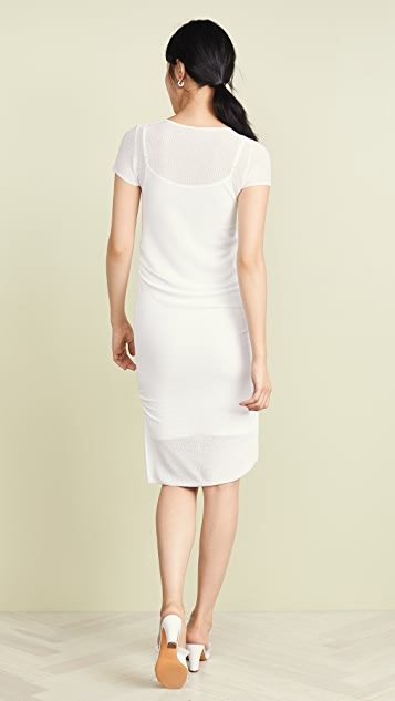 TSE Cashmere Ruched Side Dress