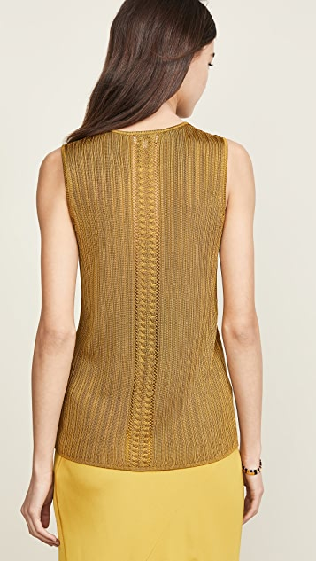 TSE Cashmere Cable Framed Sweater