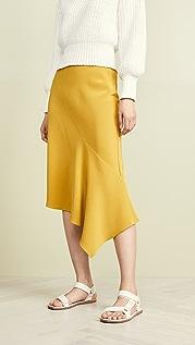 TSE Cashmere Draped Bias Skirt