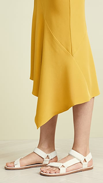 TSE Cashmere Draped Bias Skirt