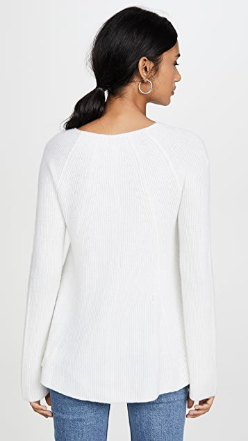 TSE Cashmere Braided Rib Sweater